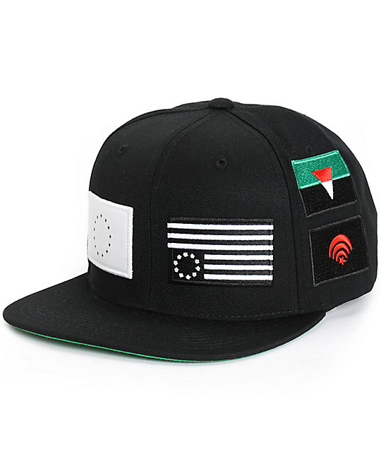 Black Scale Pandemic Snapback Hat  94bbde82fb4