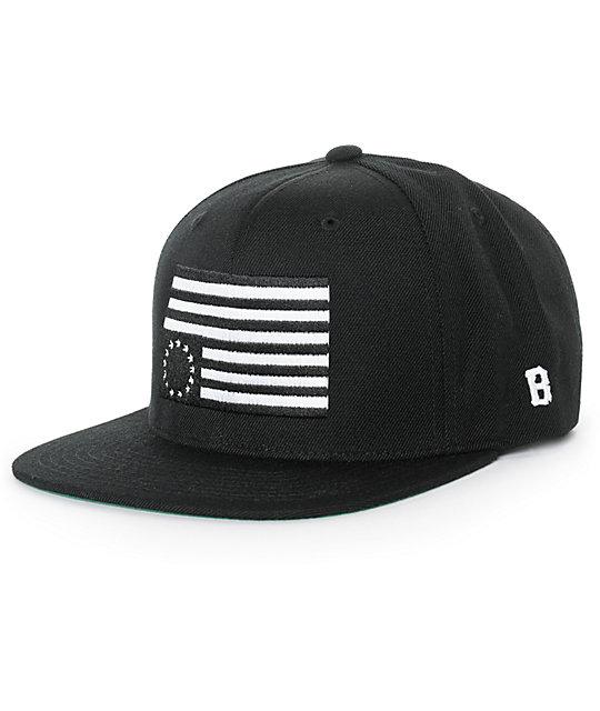 Black Scale Rebel Flag Snapback Hat  edf9bcbe510