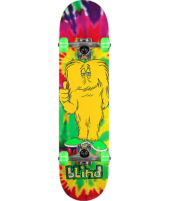 "Blind Hippie Looney 7.25"" Mid Skateboard Complete"