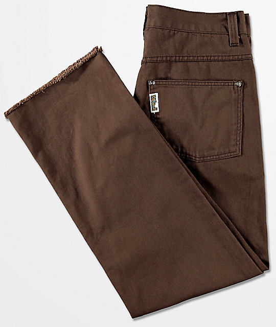 Blind Straight Fit Brown Jeans