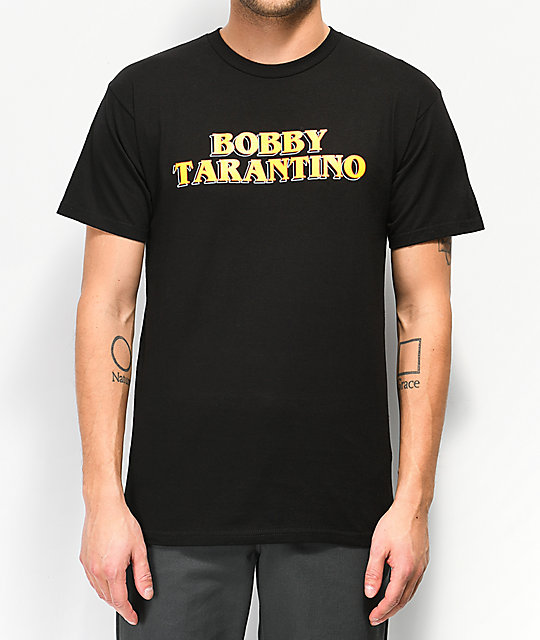 Bobby Tarantino by Logic Movie Title Black T-Shirt