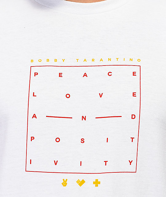 Bobby Tarantino by Logic Peace Love Positivity camiseta blanca