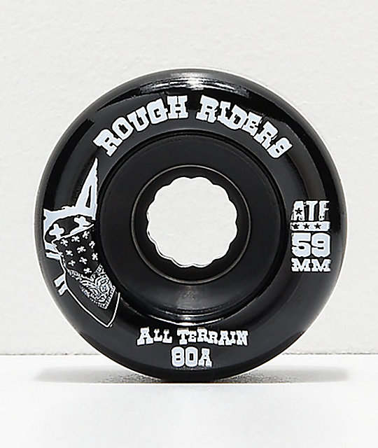 Bones ATF Roughriders 59mm Black Skateboard Wheels