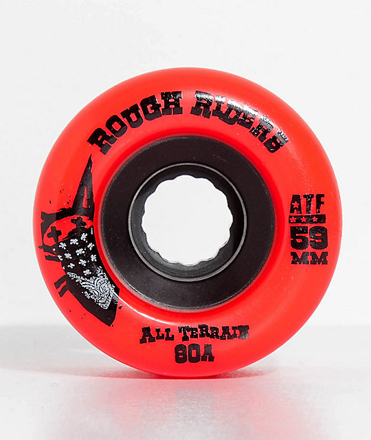Bones ATF Roughriders 59mm Red Skateboard Wheels