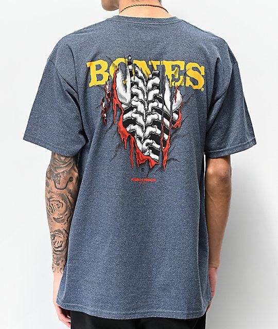 33c3538e3 Bones Powell Peralta Shred Navy T-Shirt   Zumiez