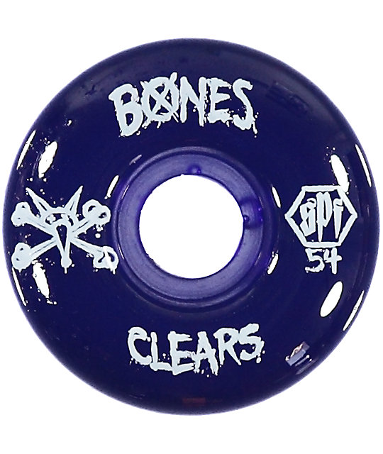 Bones SPF Clear Purple 54mm ruedas de skateboard