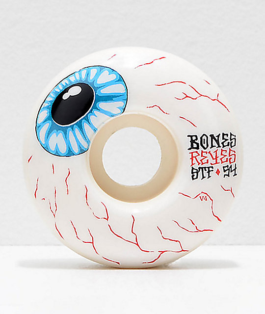 Bones Stf Pro Reyes Eyeball 54mm Skateboard Wheels Zumiez