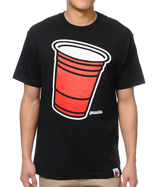 Booger Kids Party Cup Black T-Shirt