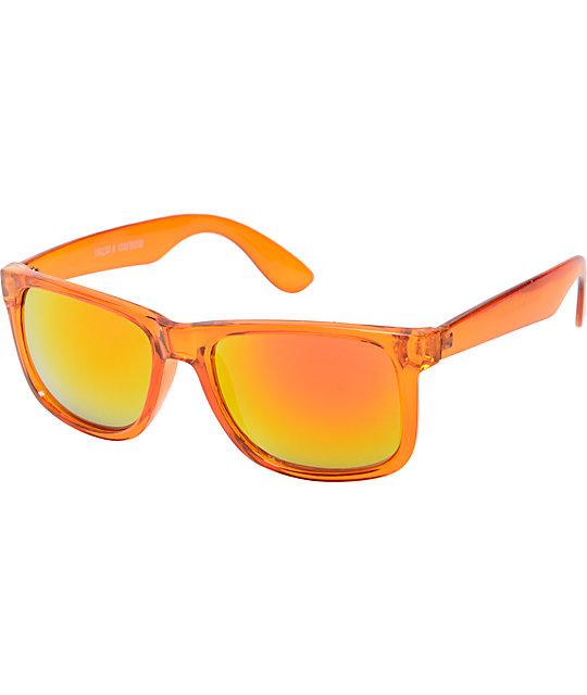 Bravo Clear Orange   Red Mirror Sunglasses  2f24a223eb95
