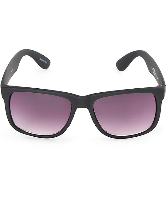 Bravo Rubberized Black Sunglasses