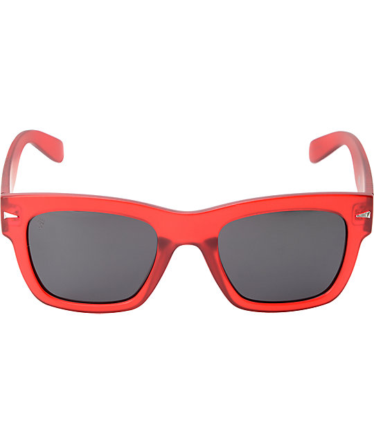 Brigada Big Shot Red Frost Polarized Sunglasses