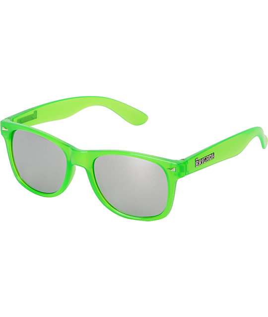 Brigada Lawless Lizard King Clear Green & Chrome Sunglasses