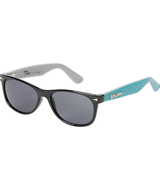Brigada Terry Kennedy Black & Teal Sunglasses