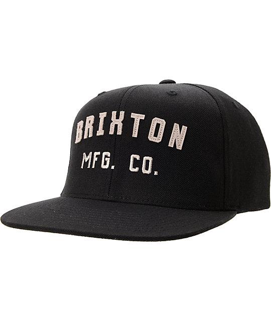 ed7243ec0a Brixton Arden Black   White Snapback Hat