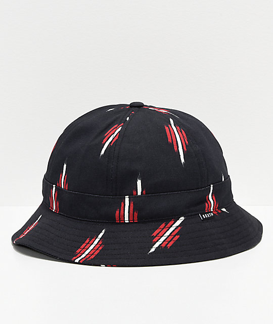 d870a1736a1 Brixton Banks II Black   Red Bucket Hat