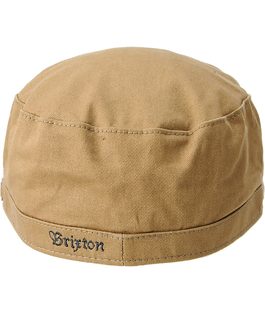 Brixton Busker Olive Twill Military Hat