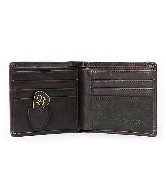 Brixton Chord Brown Bifold Wallet