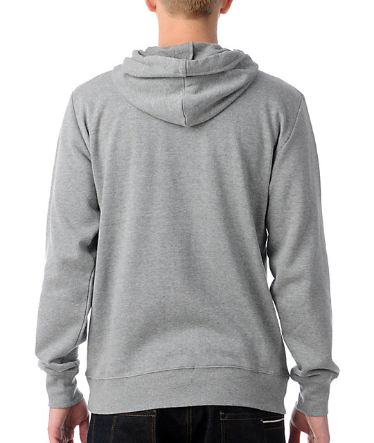 Brixton Civil Grey Zip Up Hoodie