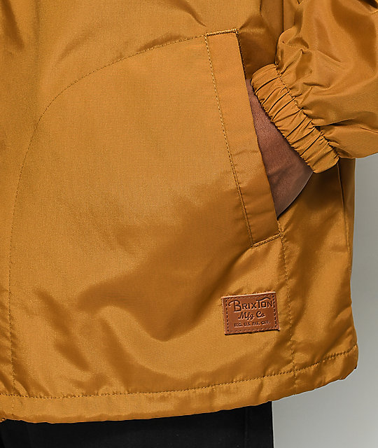 Brixton Claxton Copper Hooded Windbreaker Jacket