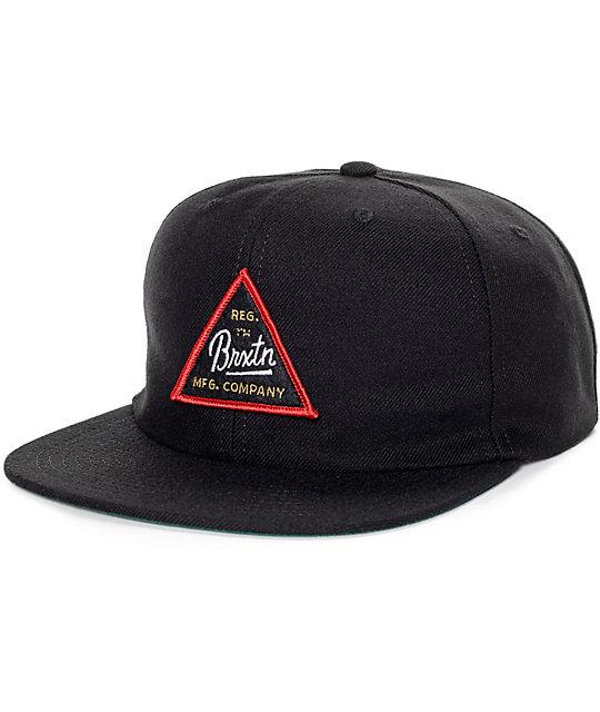 Brixton Cue Black Snapback Hat | Zumiez