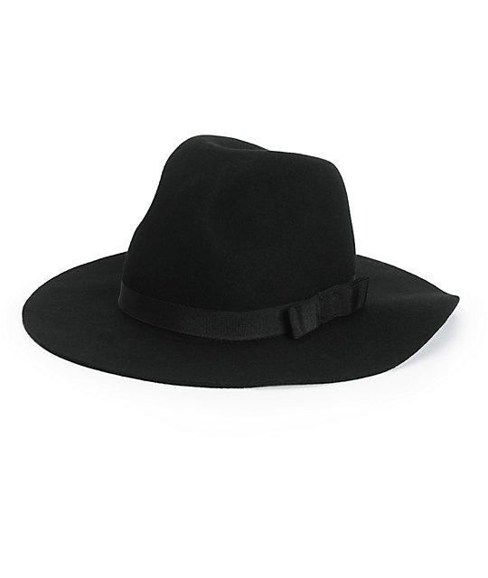 02db5eaa49a Brixton Dalila Black Wide Brim Hat