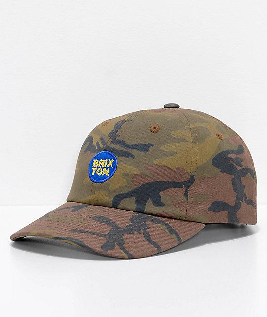 1b58b58e74c2d Brixton Glasgow Camo Strapback Hat