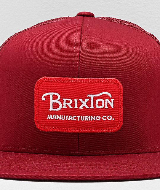 Brixton Grade Cardinal Red Trucker Hat