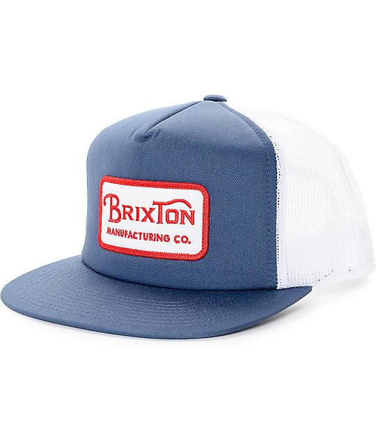 Brixton Grade Navy Trucker Hat  b460453d44b