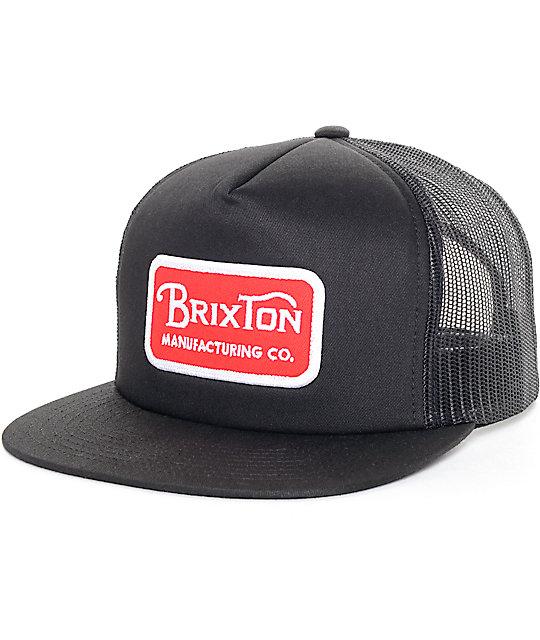 Brixton Grade Red   Black Mesh Trucker Hat  d59e7c1243cc