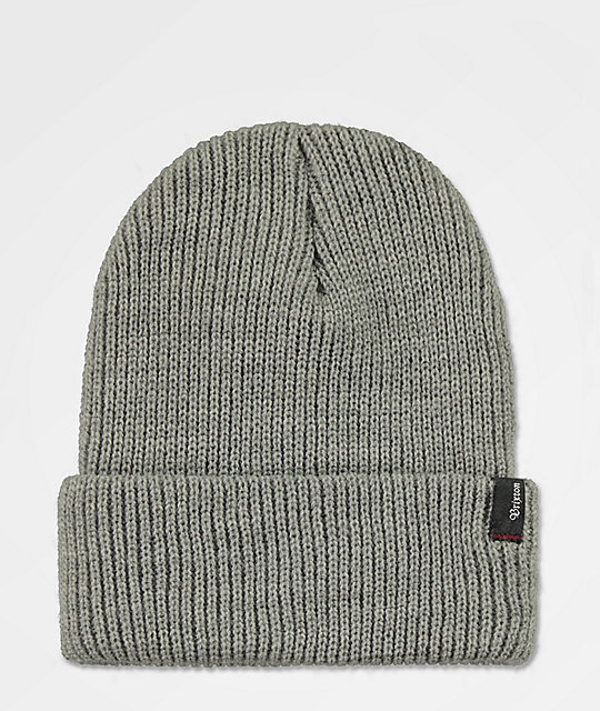 Brixton Heist Light Heather Grey Beanie
