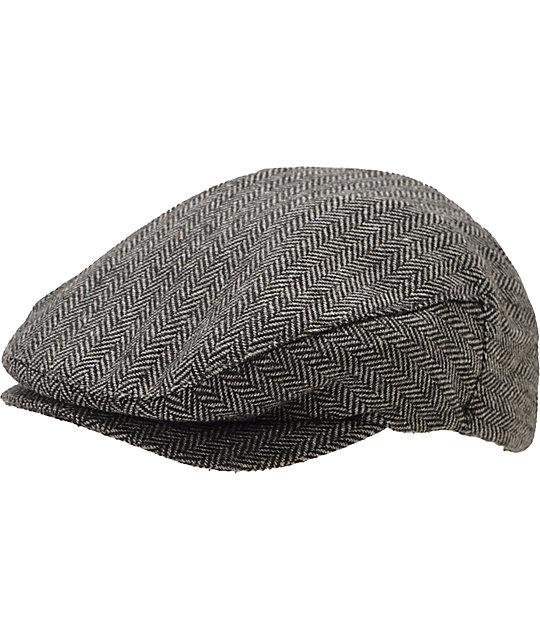 5046d58237d85 Brixton Hooligan Grey   Black Snap Cap