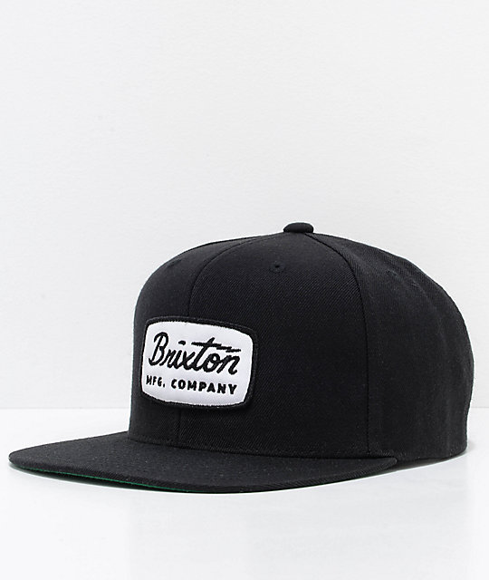 06cc8de47708f Brixton Jolt Black Snapback Hat