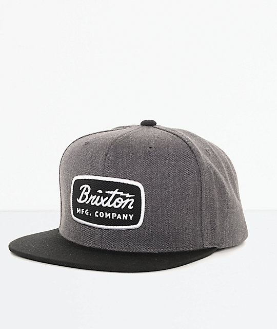 1209db634f Brixton Jolt Charcoal   Black Snapback Hat