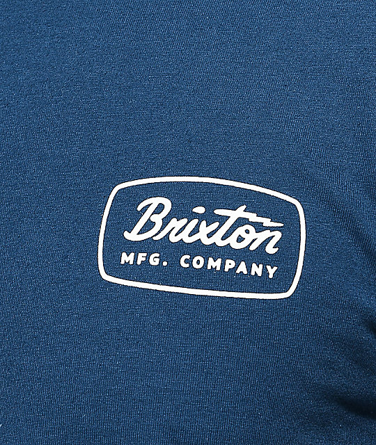 3ec5920977c Brixton Jolt Dark Blue T-Shirt | Zumiez