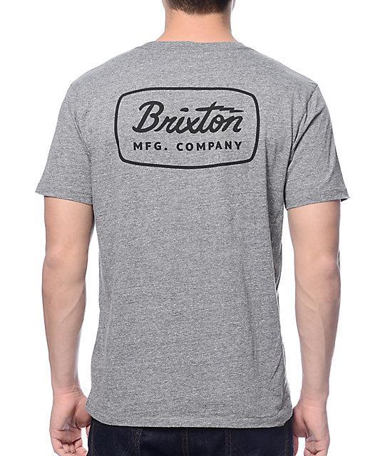 db127d9c1b6 Brixton Jolt Heather Grey Premium T-Shirt | Zumiez
