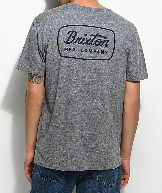 0fda01741d2637 Brixton Jolt Heather Grey Premium T-Shirt | Zumiez