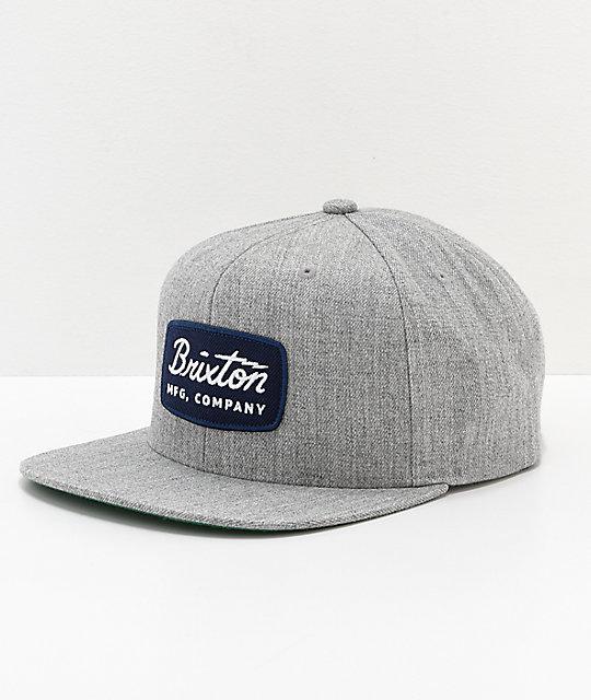 9d3b25e5b Brixton Jolt Navy Patch Grey Snapback Hat