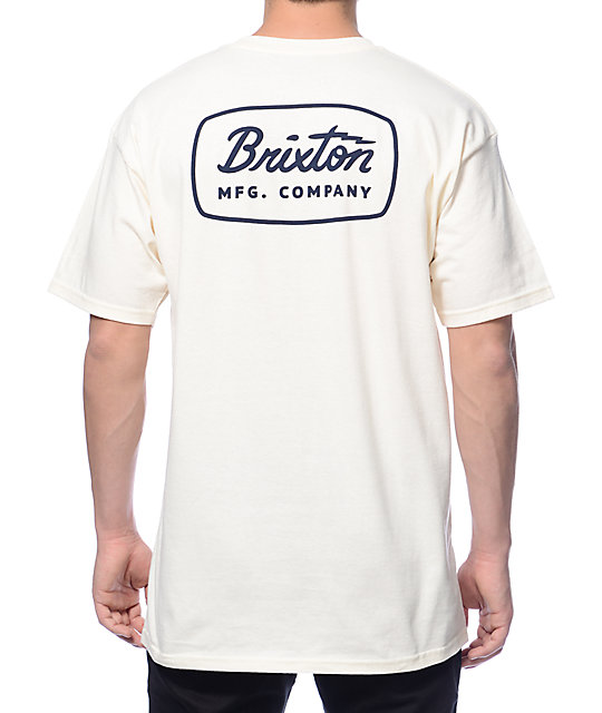 975d224fa74 Brixton Jolt Off-White T-Shirt | Zumiez