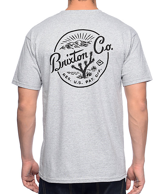 Brixton Joshua Heather Grey T-Shirt