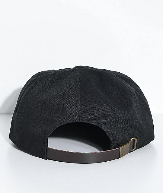 Brixton Langley Black Strapback Hat