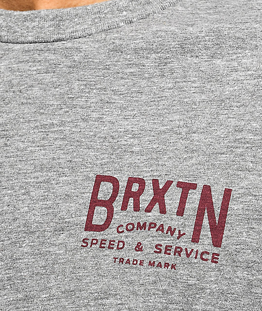 Brixton Langley Heather & Burgundy Premium T-Shirt