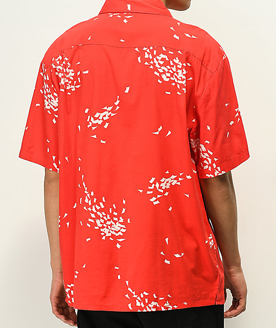 Brixton Lovitz Red & White Short Sleeve Button Up Shirt