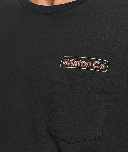 Brixton Maron Black Washed Long Sleeve T-Shirt