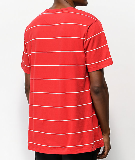 Brixton Milwaukee Red Henley T-Shirt