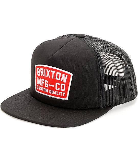 3a7f44cd256da Brixton National Black Trucker Hat