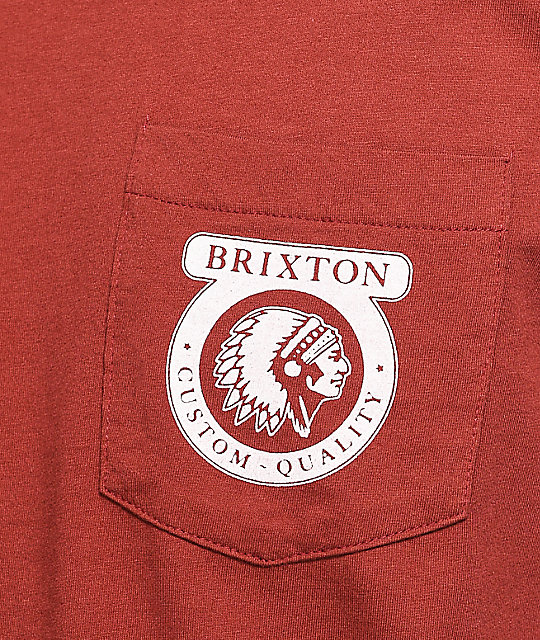 Brixton Native camiseta de manga larga en color vino