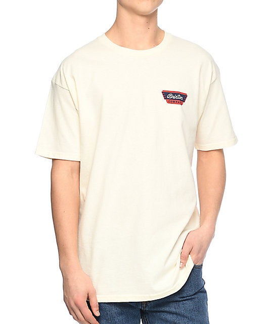 Brixton Normandie Off White T-Shirt