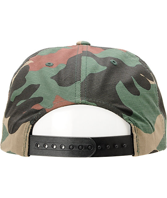4d1be2f6c8a ... Brixton Oath III Camo Snapback Hat