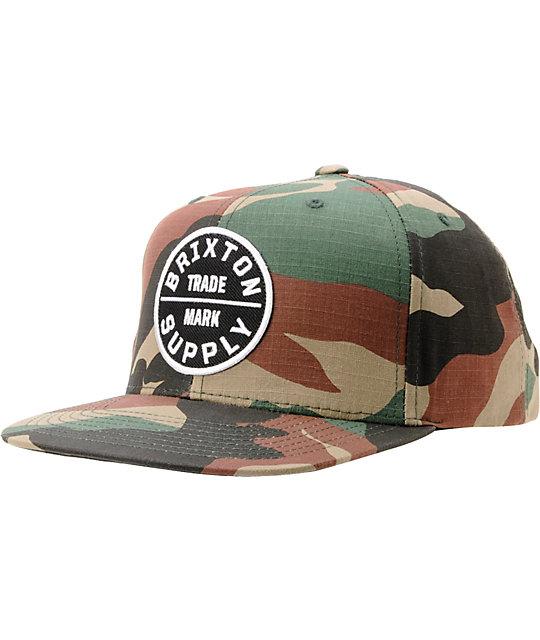 3f5dd5755b1 Brixton Oath III Camo Snapback Hat