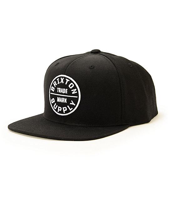 22fcbbe582d Brixton Oath III Snapback Hat
